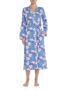 Nora Rose Blue floral print robe