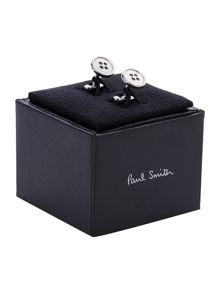 Paul Smith London Silver Button Cufflink