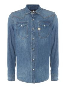 G-Star Tacoma lightweight long sleeve craser denim shirt