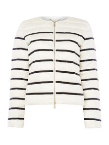 Marella MERINGA lightweight padded striped coat