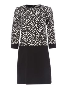 Marella ROUND longsleeve printed top shift dress