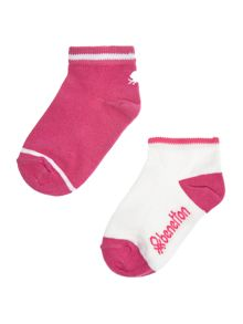 Benetton Girls 2 Pack Trainer Socks