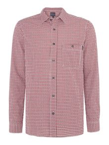 Perry Ellis America Cotton Gingham Long-Sleeve Shirt