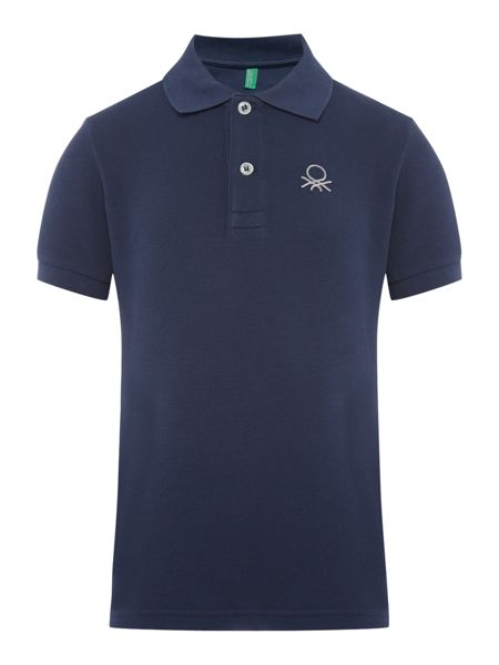 Benetton Boys Short Sleeve Logo Polo Shirt