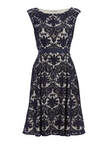 Shubette Embroidered lace fit and flare dress