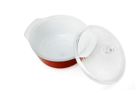 Creo SmartGlass Covered Casserole Dish, Shanghai Red