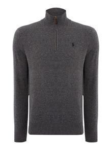 Polo Ralph Lauren Half Zip Luxury Merino Jumper
