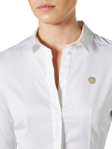 Versace Jeans Long Sleeve Logo Shirt