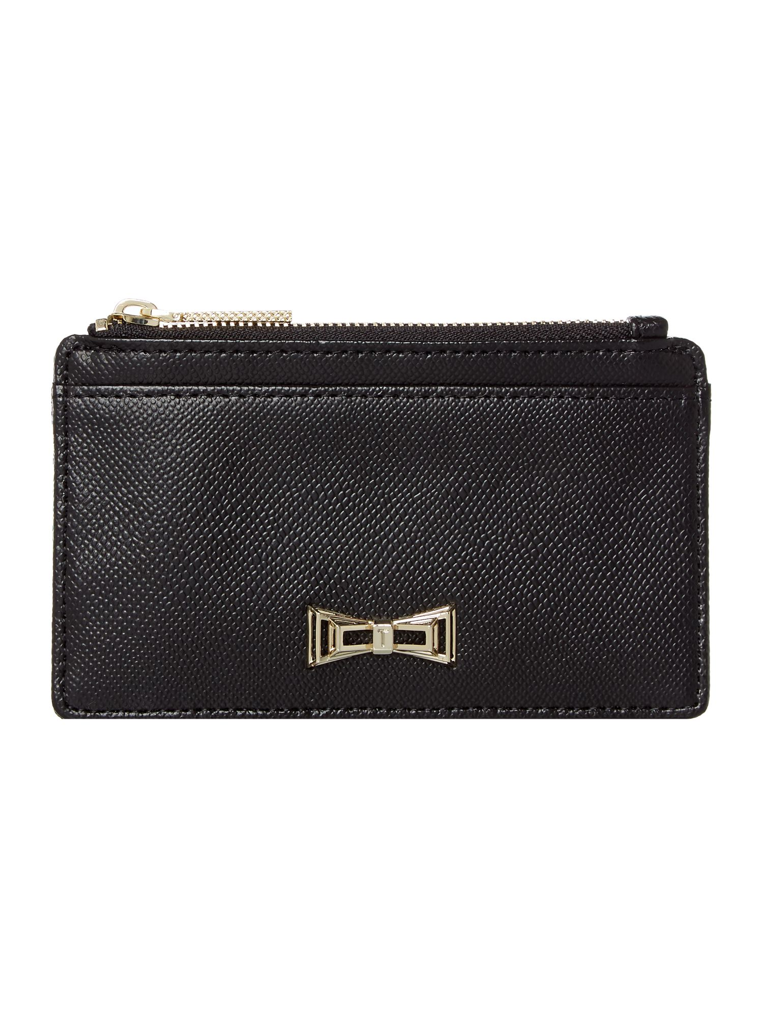 Ted Baker Satina bow coin purse Black