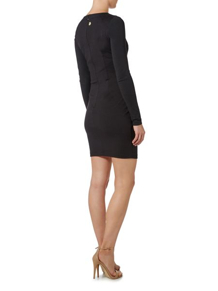 Versace Jeans Long Sleeved Embellished Bodycon Dress