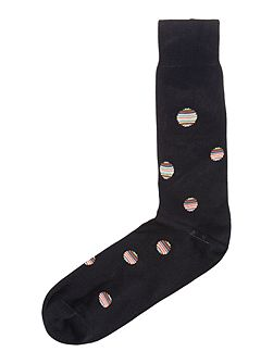 Multi Stripe Mercerised Cotton Socks