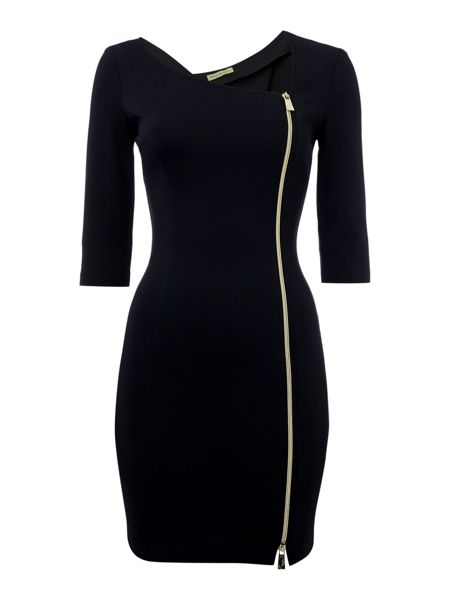 Versace Jeans Front Zip Bodycon Dress