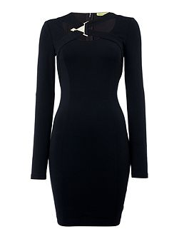 Long Sleeve Cross Body Dress