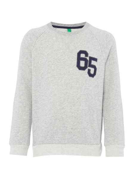Benetton Boys 65 Logo Crew Neck Sweatshirt