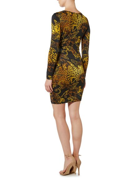 Versace Jeans Print Bodycon Dress