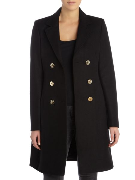 Versace Jeans Double Breasted Wool Coat