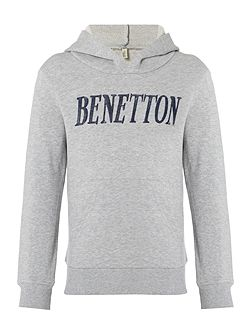 Boys Logo Hooded Sweater