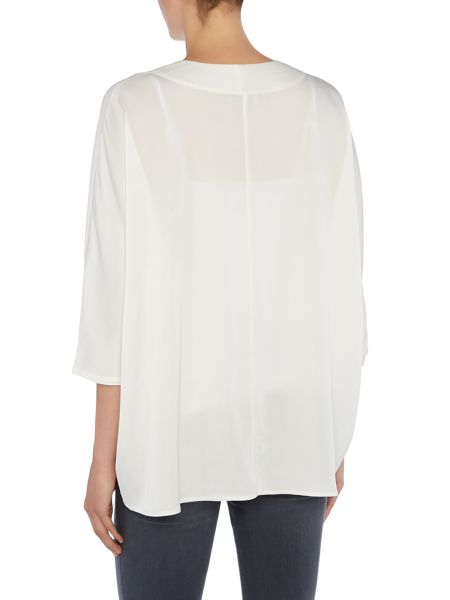 Repeat Cashmere Oversized placket blouse
