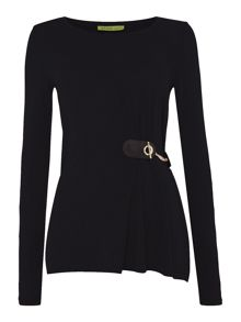 Versace Jeans Long Sleeve Side Chain Top