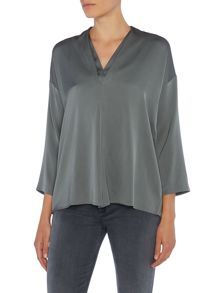 Repeat Cashmere V-neck blouse