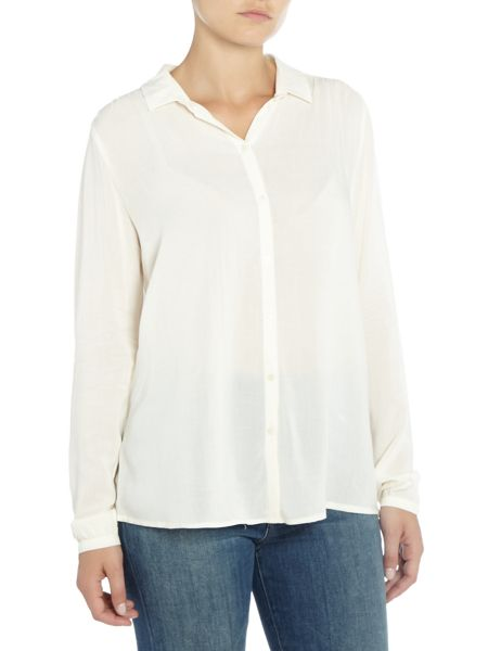 Maison Scotch Soft structured shirt with star button detail