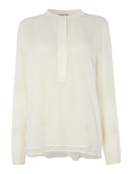 Repeat Cashmere Embroidered blouse