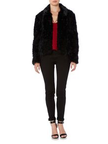 Bardot Long Sleeved Faux Fur Jacket