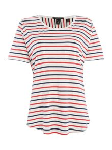 Maison Scotch Basic striped t-shirt