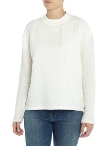 Maison Scotch Cable knit sweat