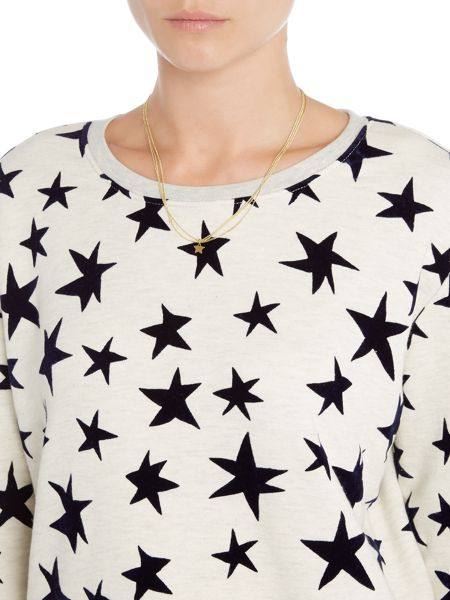 Maison Scotch Star printed sweater