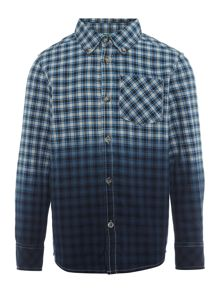 Benetton Boys Ombre Checked Shirt