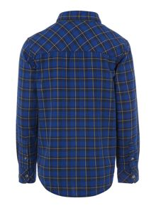 Benetton Boys Tartan Checked Shirt