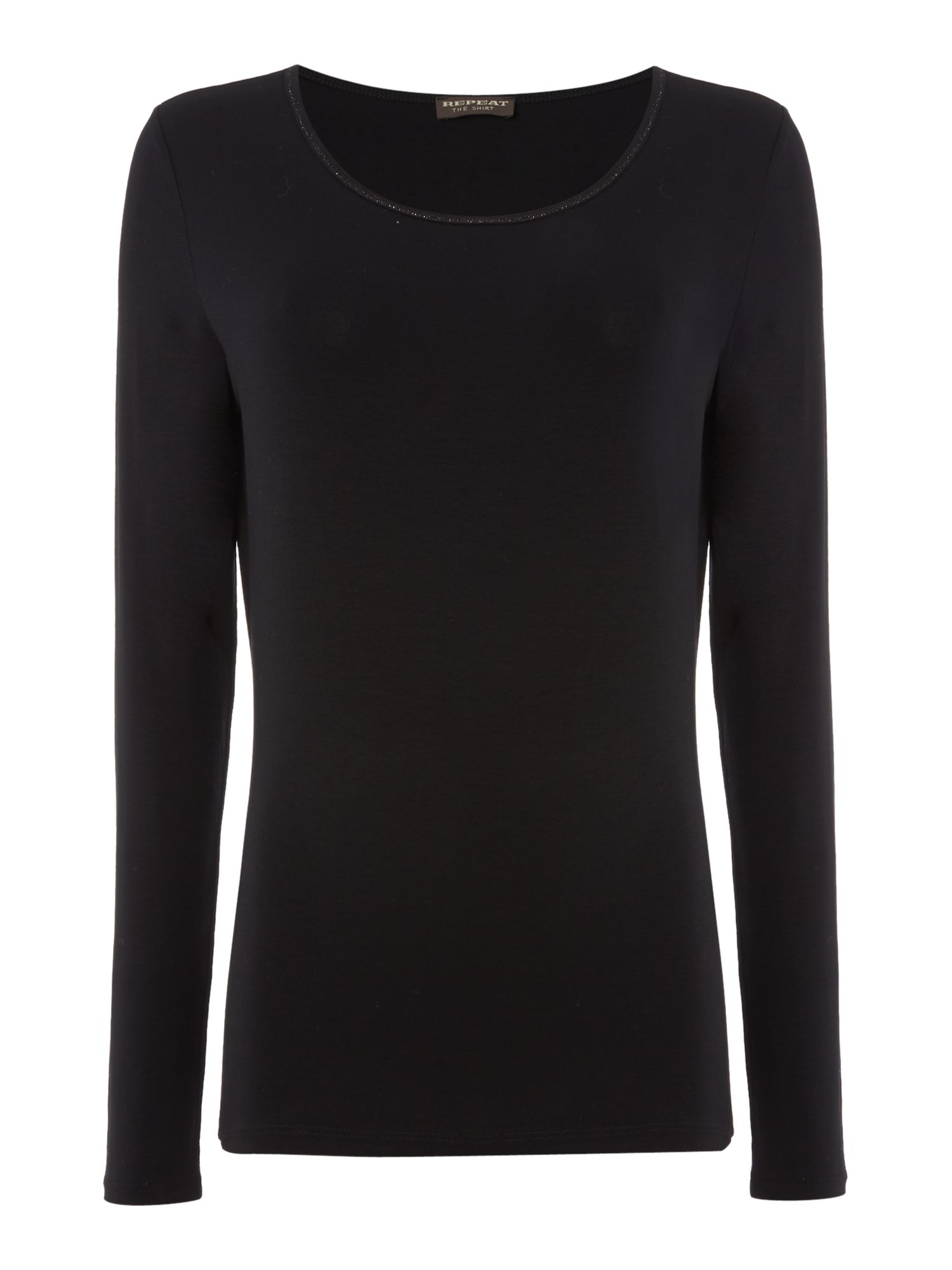 Repeat Cashmere Repeat Cashmere Round neck long sleeve top, Black