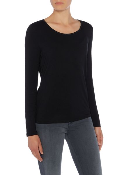 Repeat Cashmere Round neck long sleeve top