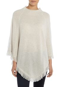 Repeat Cashmere Fringed poncho