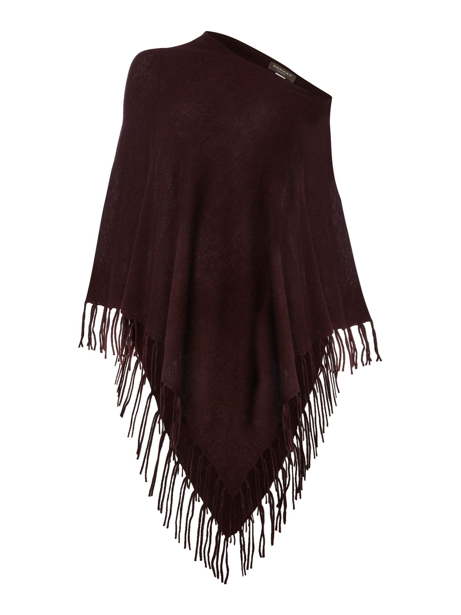 Repeat Cashmere Repeat Cashmere Tassle poncho, Red