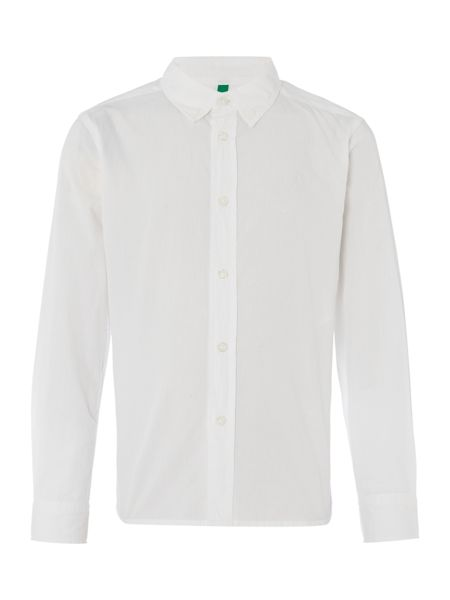 Benetton Boys Long Sleeve Logo Shirt