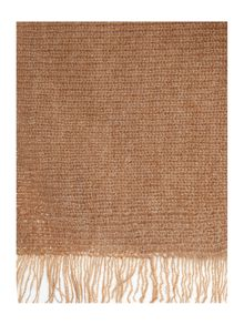 Repeat Cashmere Fringed asymetrical poncho