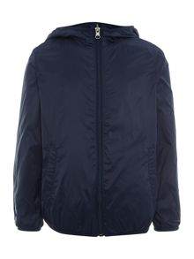 Benetton Boys Reversible Waterproof Jacket With Hood