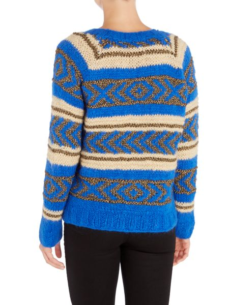Maison Scotch Knitted long sleeve crew neck jumper