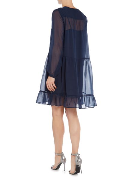 Maison Scotch Sheer midi length dress