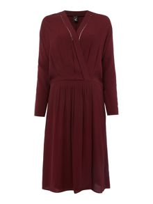 Maison Scotch Drape wrapover dress
