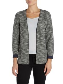 Maison Scotch Sweat blazer piping detail