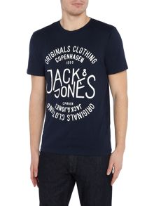 Jack & Jones Large-Logo Crew-neck T-shirt