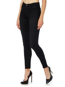 Wrangler High rise skinny body bespoke jean in real black