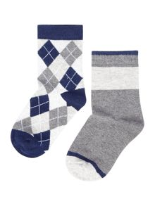 Benetton Boys 2 Pack Patterned Socks