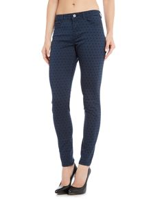 Maison Scotch La Bohemienne skinny pant with star pattern
