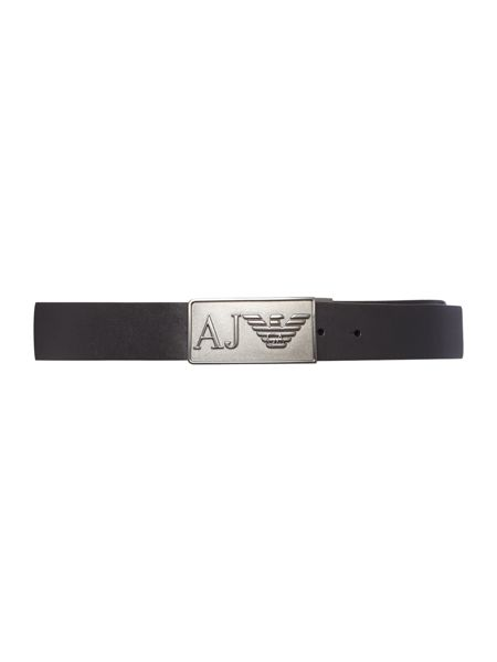 Armani Jeans Reversible Logo Plaque Belt