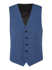 Kenneth Cole Tompkins Slim Fit Pindot Suit Waistcoat