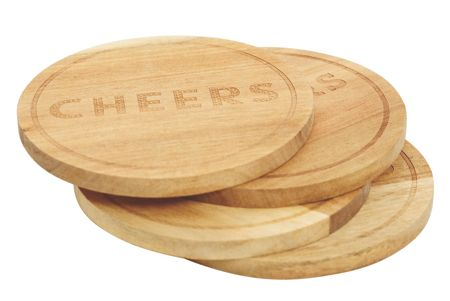Jamie Oliver Wooden Bar Coasters